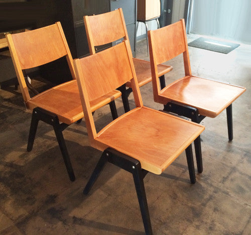 Set of 4 Lubke Stuhl Mid-Century Dining Chairs - City of Z Design