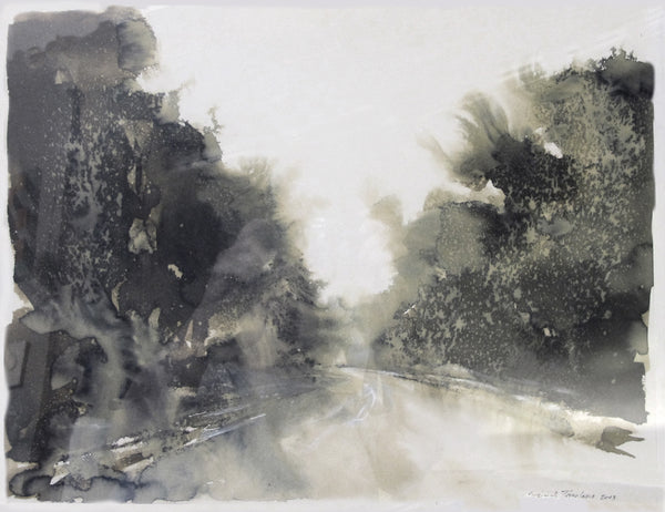 Original Landscape in Ink Wash by, Alex Tavoularis