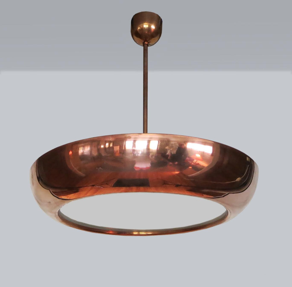 Vintage Bauhaus Copper-Plated Pendant