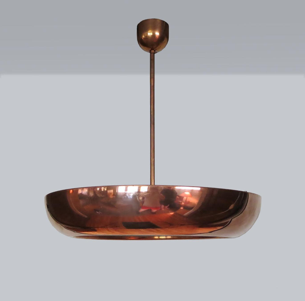 Vintage Bauhaus Copper-Plated Pendant - City of Z Design