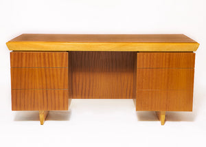 Paul Laszlo Mahogany Desk - For Brown Saltman - Mahogany & Ash - City of Z Design - City of Z Design