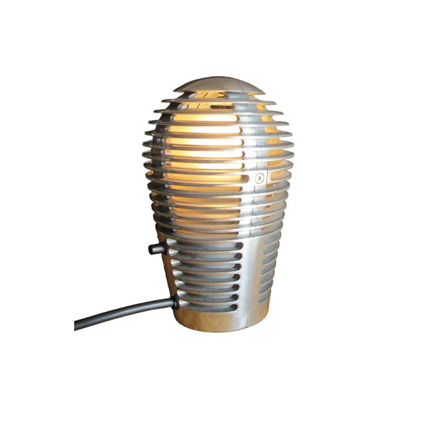 Vintage Cast Aluminum Louvered Accent Lamp for Metalarte