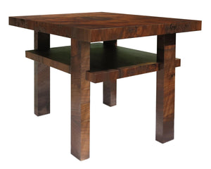Bauhaus inspired Walnut Veneer Side Table - City of Z Design