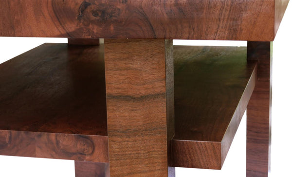 The Anton - Modern, Figured Walnut Side Table from Morfi