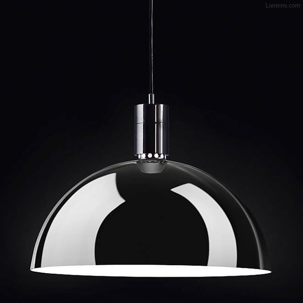 Chrome Plated Dome Pendant by Franco Albini - City of Z Design