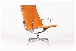 Vintage Mid Century Herman Miller High Back Lounge Chair - City of Z Design