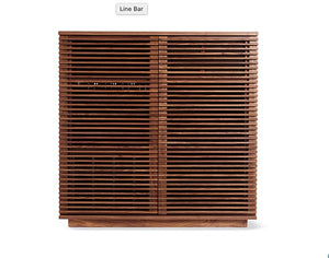 Modern Wood Slatted Front Bar - City of Z Design