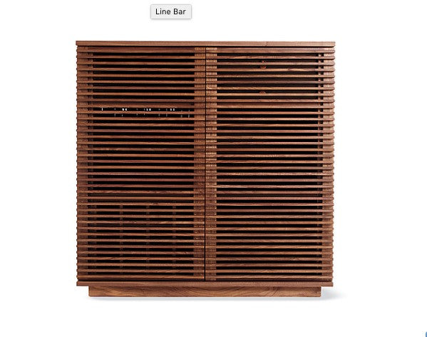 Modern Wood Slatted Front Bar. Modern Furniture   City of Z Design