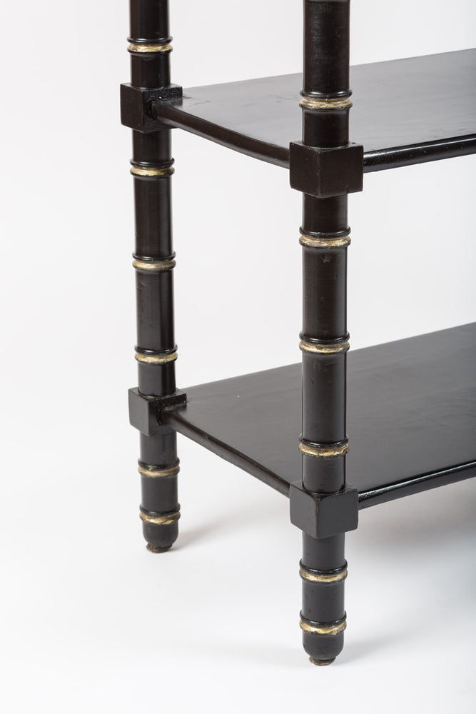Antique Black Occasional Tables with Onyx top - City of Z Design