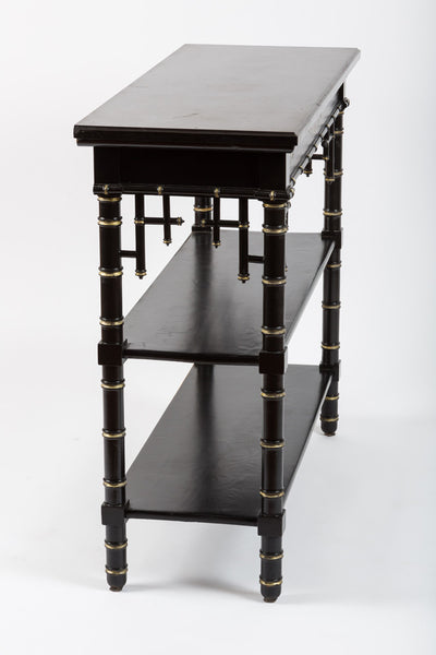 Antique Black Occasional Tables with Onyx top