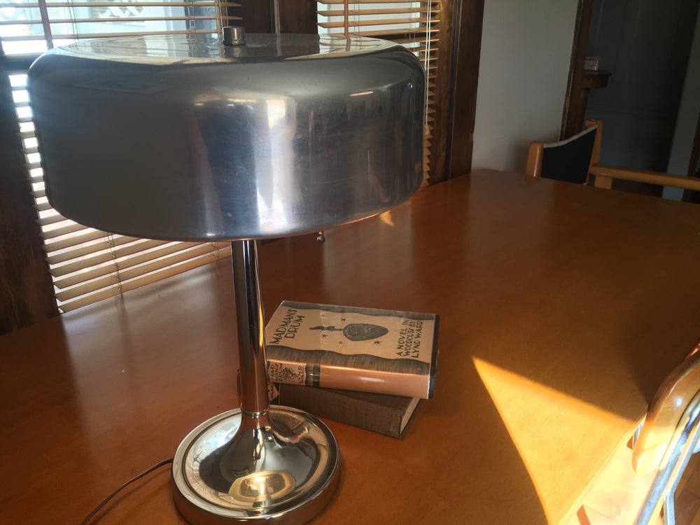 Vintage 1930's Nickel Plated Bauhaus Desk Lamp - City of Z Design