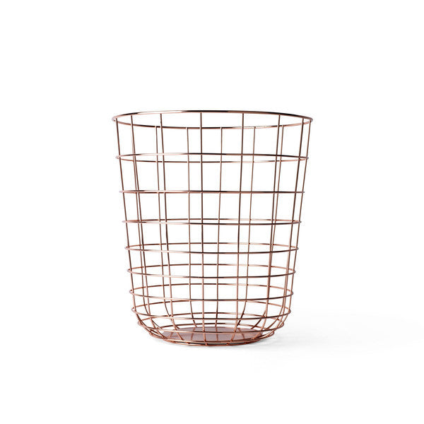 Modern Copper Wire Wastebasket by Menu - Perfect for a Home Office - City of Z Design