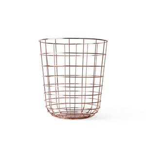 Modern Copper Wire Wastebasket by Menu - Perfect for a Home Office - City of Z Design - City of Z Design