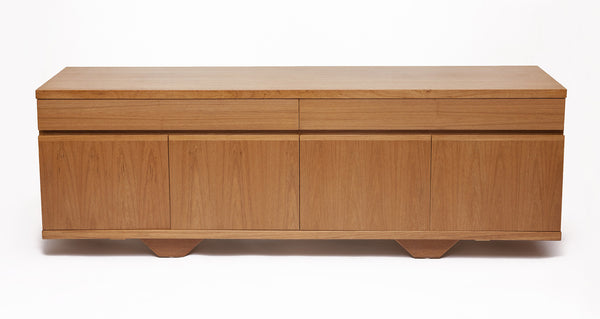 Mid-Century Credenza, Blonde Teak with clean lines - City of Z Design