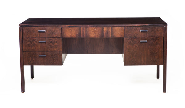 Mid-Century Desk in Rosewood, Attributed to Harvey Probber - City of Z Design
