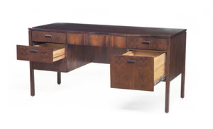 Vintage, Mid-Century Rosewood Desk Attributed to Harvey Probber - City of Z Design