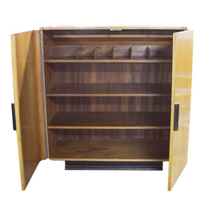 Art Deco Cabinet in Oak with Black Base - City of Z Design