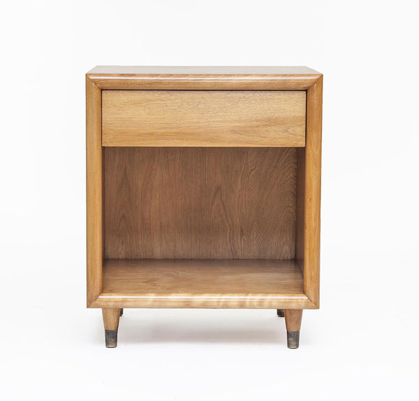 Pair of Mid-Century Maple Nightstands in the manner of John Stuart - City of Z Design
