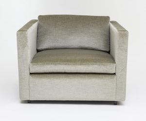 Vintage Knoll Lounge Chair Upholstered in Sage Green Mohair, designed by Charles Pfizer - City of Z Design