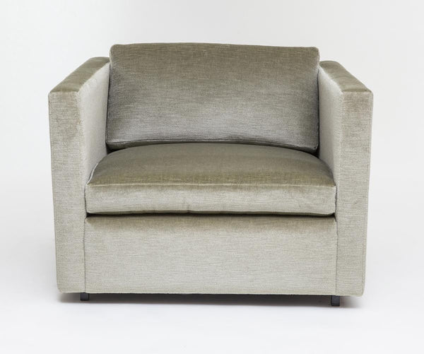 Pfister Lounge Chair for Knoll upholstered in Sage Green Mohair - City of Z Design