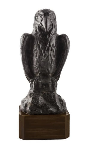 1920'sCastLeadStatue|Falcon|Custom Black Walnut Base|City of Z Design - City of Z Design