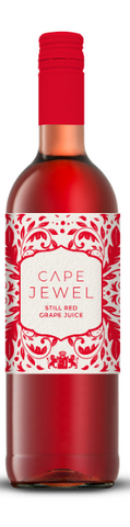 Cape Jewel Grape Juice Still Red 750ml - Non Alcoholic (Case of 6 Bottles) Kosher for Passover
