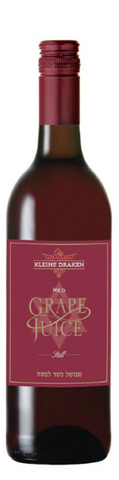 Kleine Draken Grape Juice Still Red 750ml - Non Alcoholic (Case of 6 Bottles) Kosher for Passover