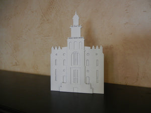 St George Temple -small- shelf or wall metal art