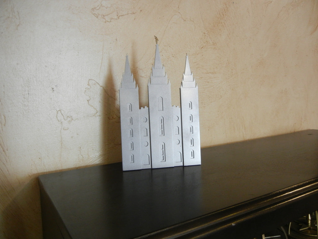 Salt Lake Temple -small- shelf or wall metal art