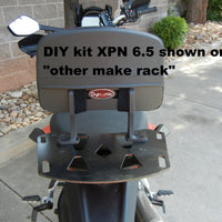 DIY Motorcycle Backrest Kit XP 8.5. Do It Yourself Backrest Install Kit. This kit is for if you already have a flat luggage rack made by another manufacturer (or home made) and you don't mind drilling holes in it to attach a Backrest