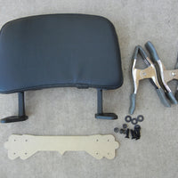 DIY Motorcycle Passenger Backrest KitDo It Yourself Backrest Install Kit. This kit is for if you already have a flat luggage rack made by another manufacturer (or home made) and you don't mind drilling holes in it to attach a Backrest