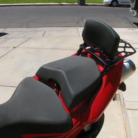 Ducati Multistrada 620 1000 & 1100 Backrest- attaches to Luggage Racks