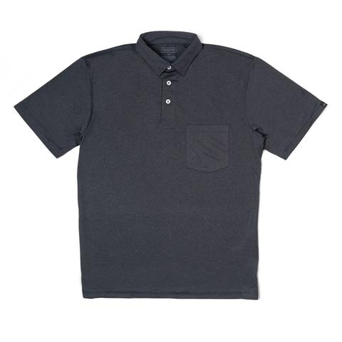 Sport Polo- Heather Black