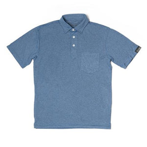 Sport Polo- Heather Blue