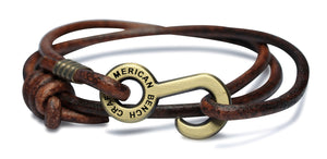 Rum Runner Leather Cord Wrap Bracelet