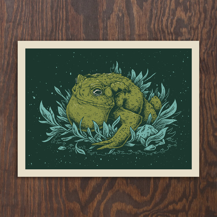Wildwood Toad Screen Print