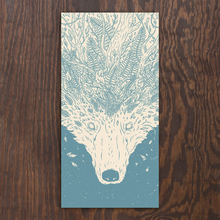 Woodland Wolf Screen Print