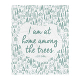 """Home Among the Trees"" Throw Blanket"