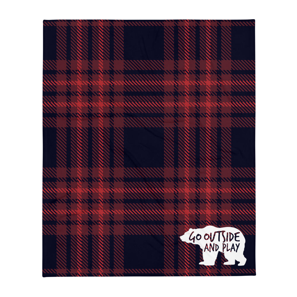 """Bear"" Buffalo Check Throw Blanket"