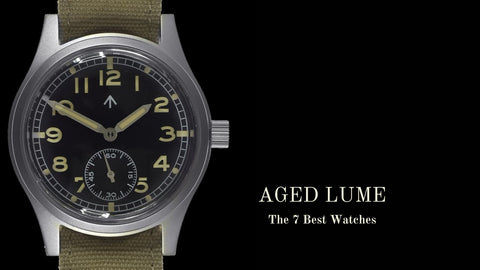 Watches with Aged Retro Lume