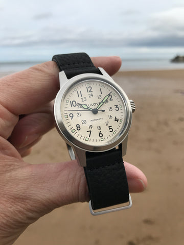 Bulova Hack Cream Field Watch