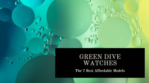 Green dial dive watches