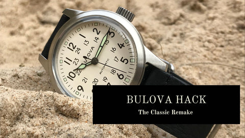 Bulova Hack Cream Military Watch
