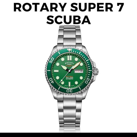 Rotary Super 7 Scuba 'Hulk' S7S003B Watch
