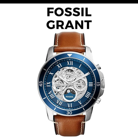 Fossil Grant Skeleton Watch