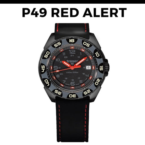Traser P49 Red Alert Watch