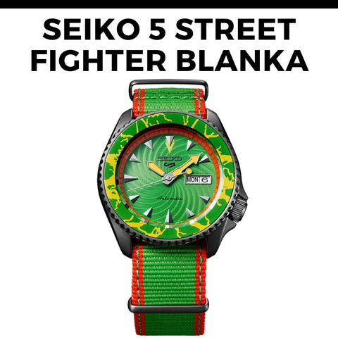 Seiko 5 Street Fighter Blanka Watch