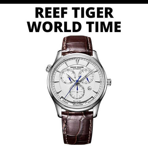 Reef Tiger World Time Watch
