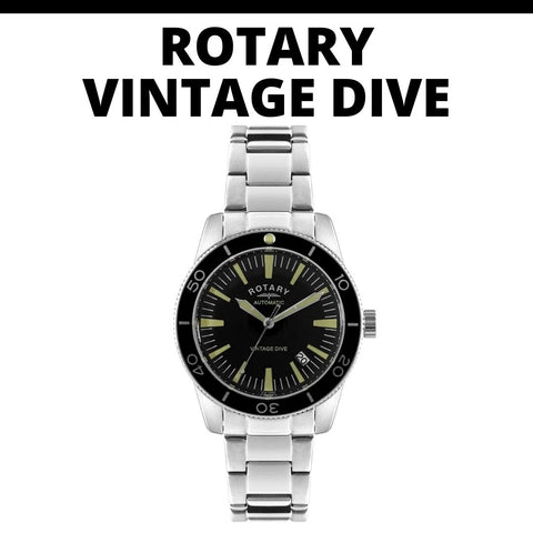 Rotary Vintage Dive Automatic Watch