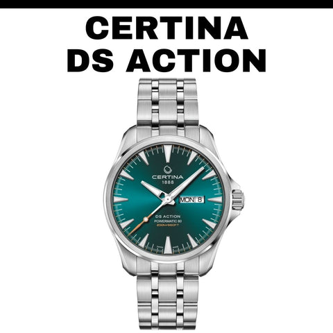 Certina DS Action turquoise watch